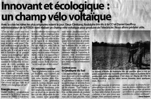 Article paru le 01-04-2009 ... - Athanaël - biking66.com